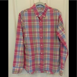 Bonobos Men's M Pink Plaid Button Down Shirt